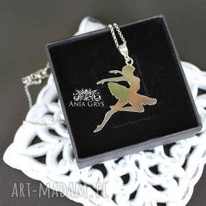 Love to dance, baletnica, wisiorek, wycinany, srebrny, aniagrys, gwiazdoo