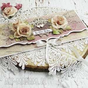 świąteczny prezent, Ślubna kopertówka, scrapbooking, ślub, młodej parze, kartka