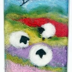 wiosenna łąka obraz z kolekcji die wunderschöne natur, wełna