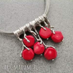 handmade wisiorki koralowe gałązki