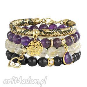 Violet,gold ,ametyst,cytryn,rozeta,