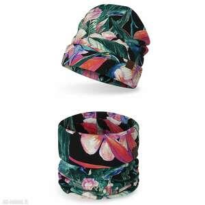 komplet dziecięcy komin czapka, komplet, komin, na wiosnę, lekka