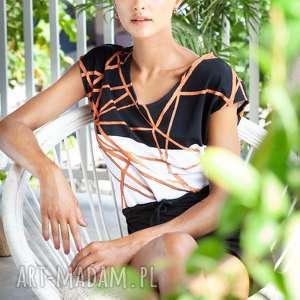 Sukienka geometryczna bawełniana sukienki manifesto art sukienka