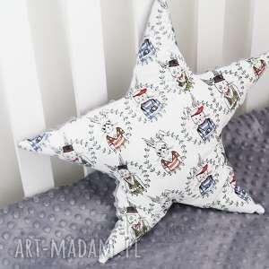 Poduszka minky Gwiazdka (Szary - królik elegancik), minky, bawełna