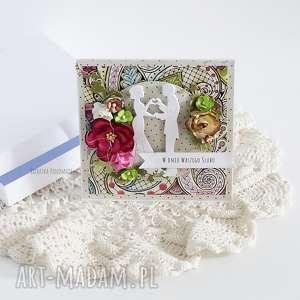 kartka ślubna w pudełku 450, prezent, wesele