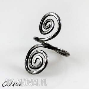 zawijasy - srebrny pierścionek 2110-05, pierścionek