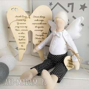 Anioł lalka na chrzest święty pamiątka lalki fabryqaprzytulanek