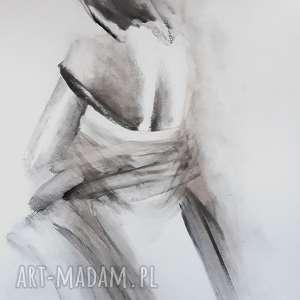 Woman 50x70 dom galeria alina louka obraz kobieta, czarno biały