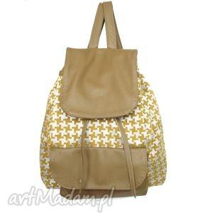 39-0002 zielono-srebrny damski plecak turystyczny / szkolny młodzieżowy
