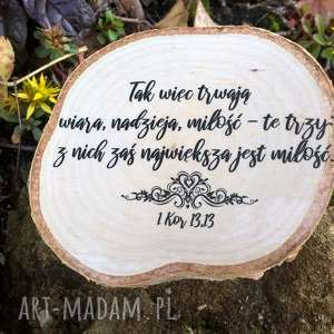 pracownia inspirnet magnes z plastra brzozy cytatem - prezent na ślub, ślub