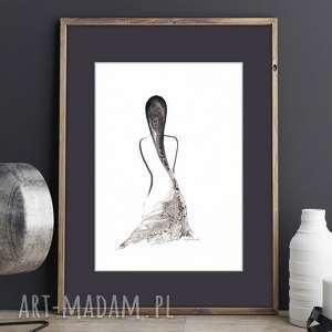 obraz Kobieta, ręcznie malowany, akwarela , plakat-a4, ilustracja