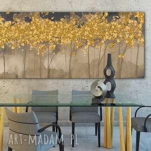 ludesign gallery obraz drukowany na płótnie z drzewami w ciepłych