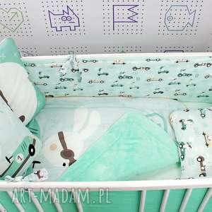 Ochraniacz na łóżeczko 120x60 Królik Wyścig , ochraniacz, łożeczko, spanie, chłopiec
