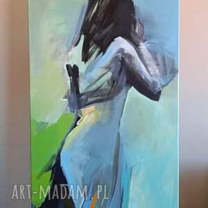 dress 120x60, obraz do salonu, duże obrazy, kobieta obraz, w sztuce