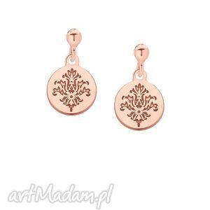 kolczyki rozetki z różowego złota - minimalistyczne kobiece