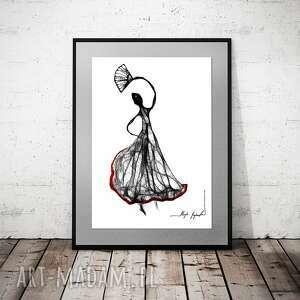 grafika 140 - flamenco, do domu, dekoracja salonu