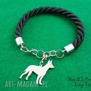 Bransoletka english toy terrier pies nr.83, bransoletka, pies, rasy-psów, rękodzieło