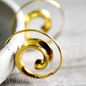 Spirit of Life Spiralne kolczyki - ,spirale,pozłacane,kobiece,orienatlne,lekkie,modne,