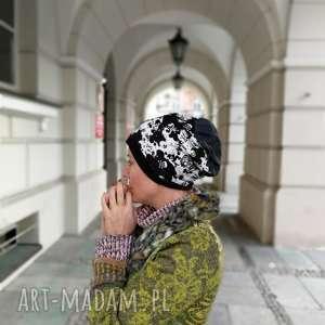 czapka damska męska w czaszki bawełna, czapka, etno, boho, czaszki, kolorowa, sport