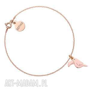Bransoletka z różowego złota z tukanem - ,bransoletka,tukan,różowe,złoto,modowa,trendy,