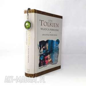 zakładka do książki hobbit - złote zakładki, pierścieni