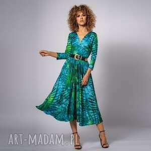 amelia tropical - sukienka, ponadczasowa, koktajlowa, elegancka