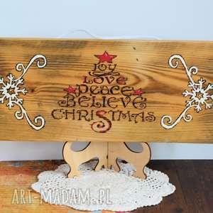 dekoracje deska - joy, christmas rustykalna, boże narodzenie, deska, drewno
