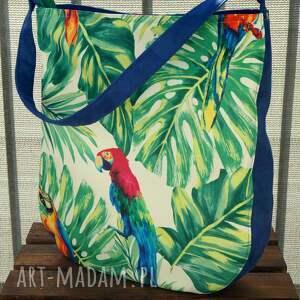 torba na ramię - papuga, torba, wiosna lato, prezent, polski produkt, codzienna
