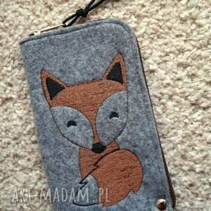 Prezent Filcowe etui na telefon - lisek, smartfon, pokrowiec, lis, fox, prezent