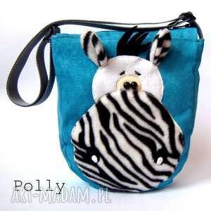 dla dziecka zebra- torebka, zebra, filc, zamsz, polar
