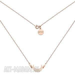 sotho naszyjnik z różowego złota z księżycem - różowezłoto
