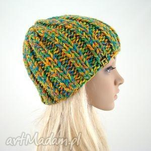 melanżowa czapka - czapka, czapa, czapeczka, unisex, kolorowa, prezent
