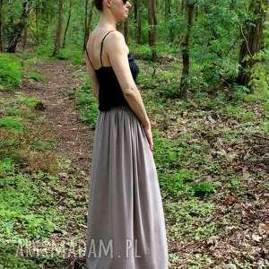 Długa zwiewna lejąca się spódnica Boho , spodnica, letnia, lejąca, długa, bawełna