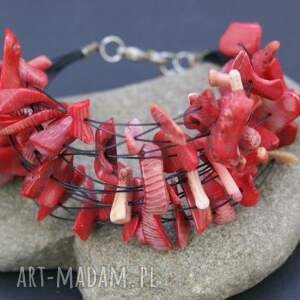 bransoletka koral, bransoletka, linki, okazała, szeroka