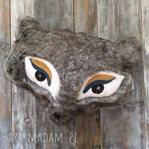 futrzana poduszka dekoracyjna lisek - poduszka lis, sztuczne futro, dziecięca