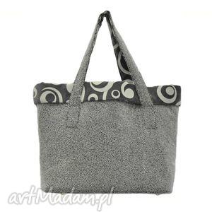 15-0002 szara torba damska do ręki shopper bag - na co dzień woodpecker, markowe