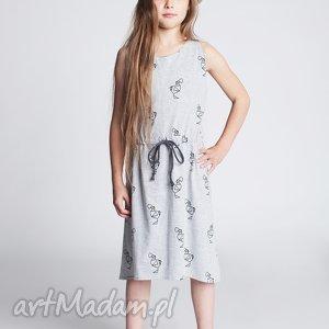 Sukienka DSU11M, sukienka, sportowa, szelki, luźna, stylowa, dodokids