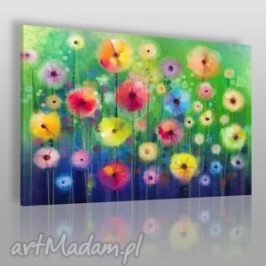 obrazy obraz na płótnie - kwiaty ogród 120x80 cm 39601 , kwiaty, ogród, rośliny