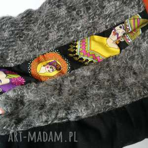komin patchworkowy boho handmade kolorowy frida kahlo, komin, etno, boho, rower