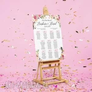 plan stołów plakat 50x70cm - boho, stołów, ślub, wesele, rustykalne