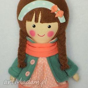 Prezent malowana lala klementyna z szalikiem, lalka, zabawka, przytulanka, prezent