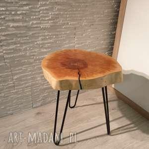 stoły stolik z żywicy epoksydowej - plaster brzozy, stolik, drewno, żywica
