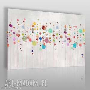 Obraz na płótnie - KOLOROWY KROPKI ABSTRAKCJA 120x80 cm (69901), kwiaty, abstrakcja
