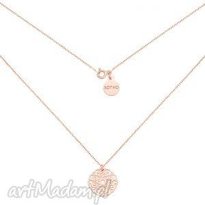 ręcznie robione naszyjniki naszyjnik z rożowego złota z rozetką