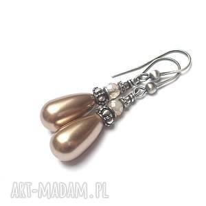 almond pearl - kolczyki