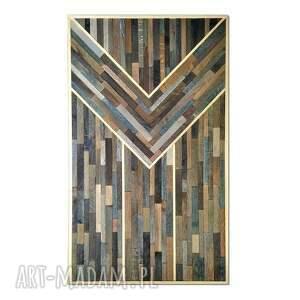 obraz z drewna, dekoracja ścienna - mozaika /6 205/, obraz, drewniany