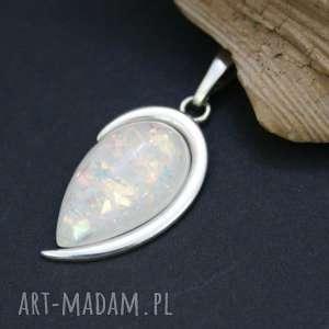 wisiorki wisiorek srebrny z opalem - zawieszka, wisior, srebro, opal