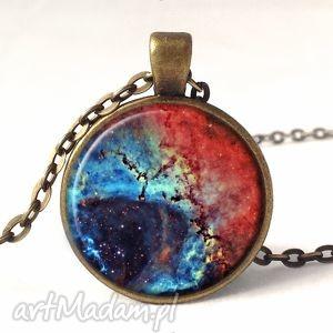 nebula - medalion z łańcuszkiem egginegg - galaktyka, gwiazdy