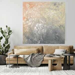obraz ręcnzie malowany 70x70, ręcznie malowany, nowoczesny