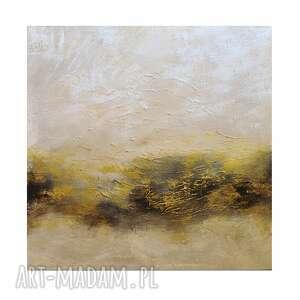 golden bay 3, abstrakcja, nowoczesny obraz ręcznie malowany